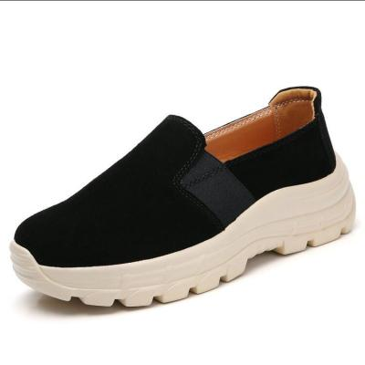 Women Flats Casual Shoes Woman Plus Size PU Leather Loafers Slip On