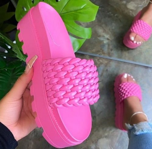 Casual Leather Soft Slippers Women Flats Slides Plus Size Shoes