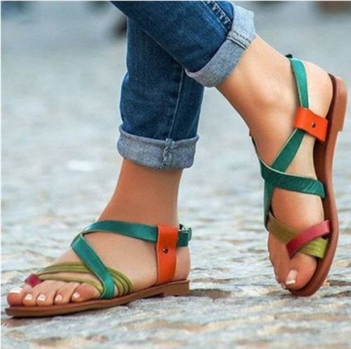 Women Flats Summer Beach Shoes Woman Plus Size Sandals Shoe