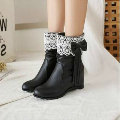 Women Ankle Boots Gladiator Flats Shoe Plus Size Wam Shoes Booties PU Leather