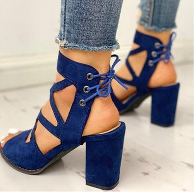 Sandals Peep Toe Party Slides Women Summer Mid Heels Pumps Shoes Woman