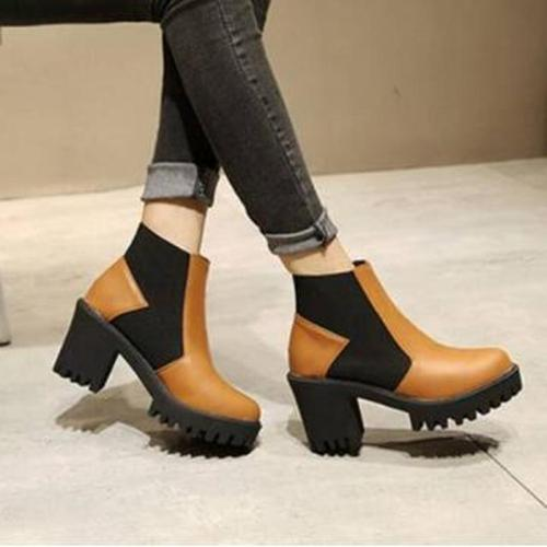 Women Ankle Boots High Heels Ladies Platform Warm Shoes Plus Size Gladiator Booties Woman