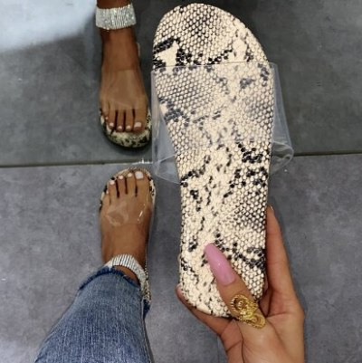 Soft Slippers Women Flats Casual Leather Slides Plus Size Shoes