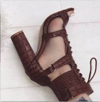 Leather Girl Party Slides Women Summer Beach Sandals Mid Heels Pumps Shoes