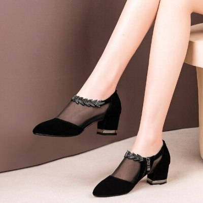 Mid Heel Shoes Woman Booties Shoe Women Ankle Boots