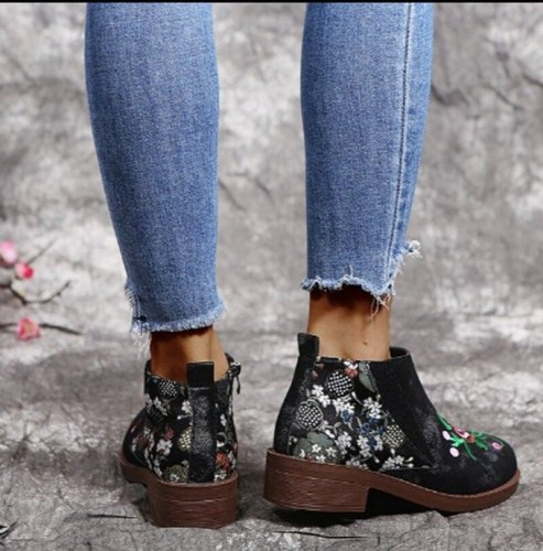 Ankle Boots Mid Heel Leather Pu Matin Shoe Women Matin Shoes Booties