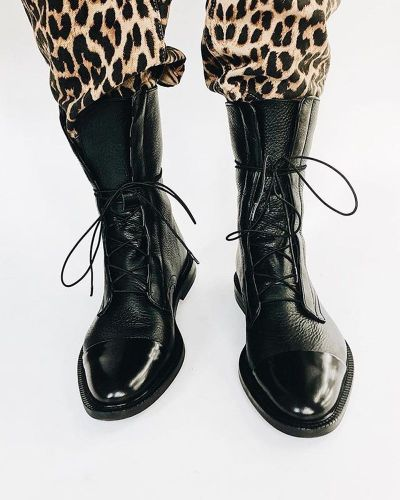 Women Ankle Boots Ladies Gladiator Booties Warm Lace Up Knight Shoes