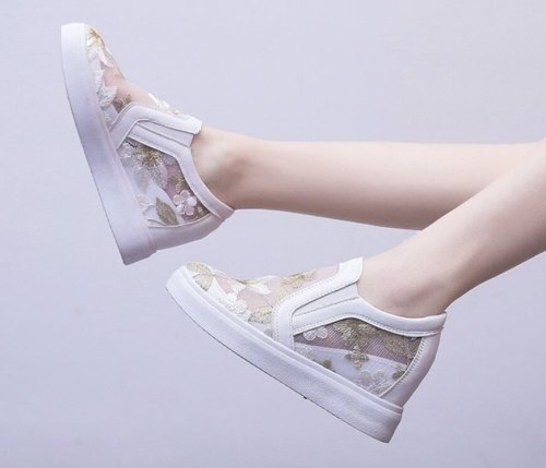 Wedge Sneakers Woman Flat with Casual Shoes Slip On Walking Shoes For Womens