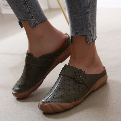 Women's Sandals Ladies Girls Ankle Hollow Round Toe Sandals Female Beach Shoes