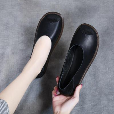 Leather Flat Shoes Woman Loafers Casual Shoes Women Flats Women Shoes