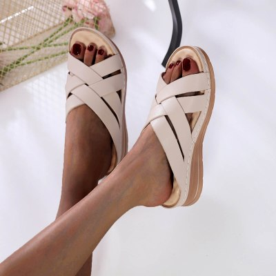 Women's Slippers Ladies Casual Shoes Solid Wedges Outdoor Leisure Sandals
