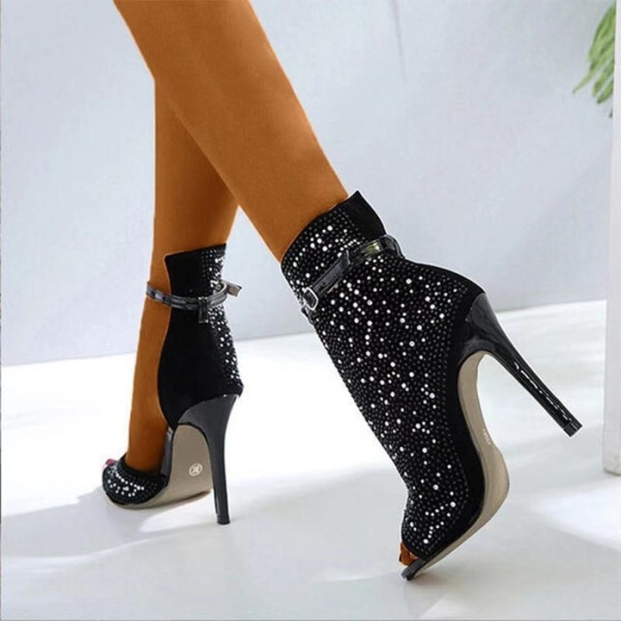 Women Pumps Sandals Ankle Pointed Toe High Heel Female Party Shoes