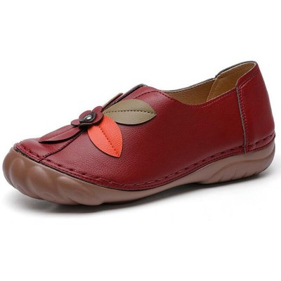 Shoes Women Leather Flats Female Women's Loafers Casual Leather Shoe