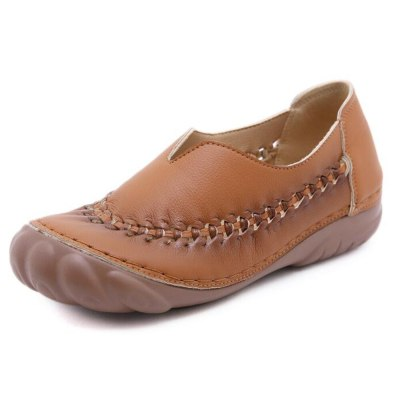 Ladies Casual Flat Shoes Retro Round toe Women's Shoes Female Loafers