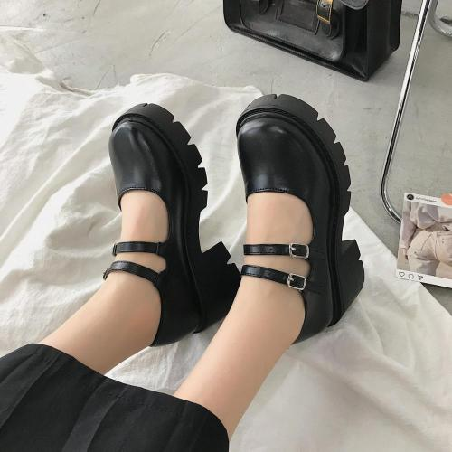 Lolita  Women Vintage High Heels Platform Cosplay Shoes