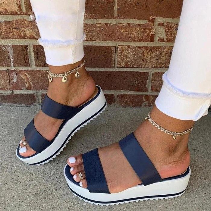 Flat Women Sandals Elegant Ladies Shoes Sandals