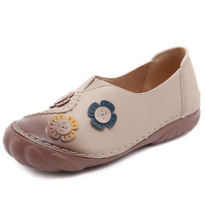 Shoes For Woman Retro Casual Loafers Comfortable Female Shoes