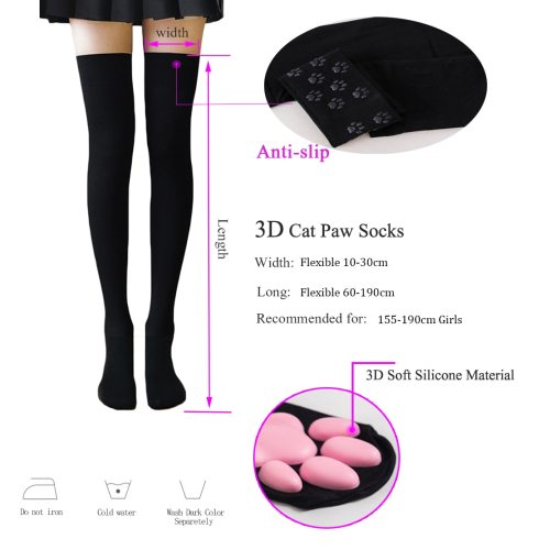 Cat Paw Socks for Women Girls Cat Claw Toe Cute Lolita Cosplay Cat Paw Pad Socks