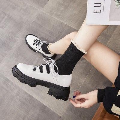 Retro Lolita Pumps Mary Janes Girl Platform Shoes Lace Up Women