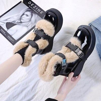 Vintage Lolita Shoes Platform Cute Shoes Mary Jane Shoes Low Heel Women