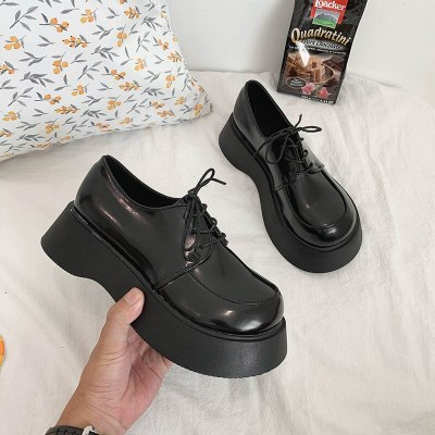 Platform Oxford Shoes Chunky Heel High Heel Women Lace up Mary Janes Shoes