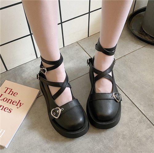 Chunky Heel Platform Mary Jane Women High Heels Pumps Lolita Shoes