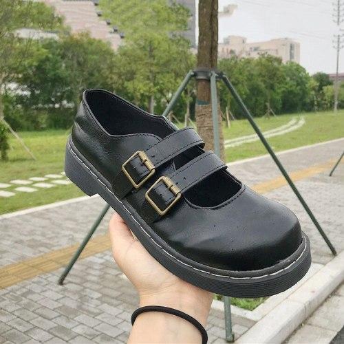Retro Lolita Women Pumps Mary Janes Shoes Girl Platform Shoes