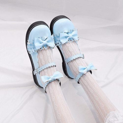 Lolita Shoes Flat Bottom Uniform Shoes Mary Jane shoes