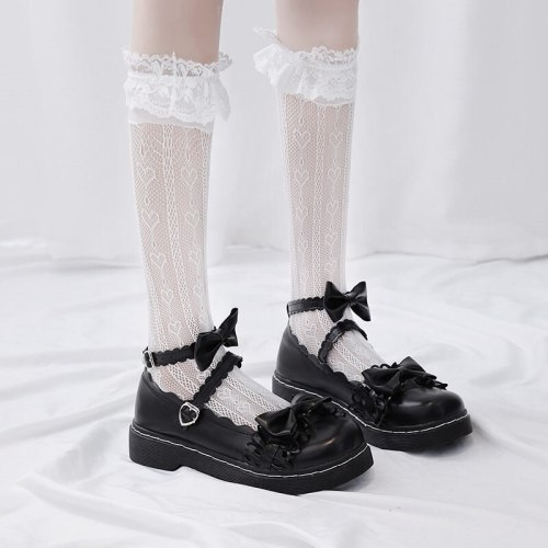 Lolita Shoes Flat Bottom Uniform Shoes Mary Jane shoes