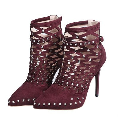 Sandals Pointed Toe Ankle Boots Stiletto Heel Women Shoes