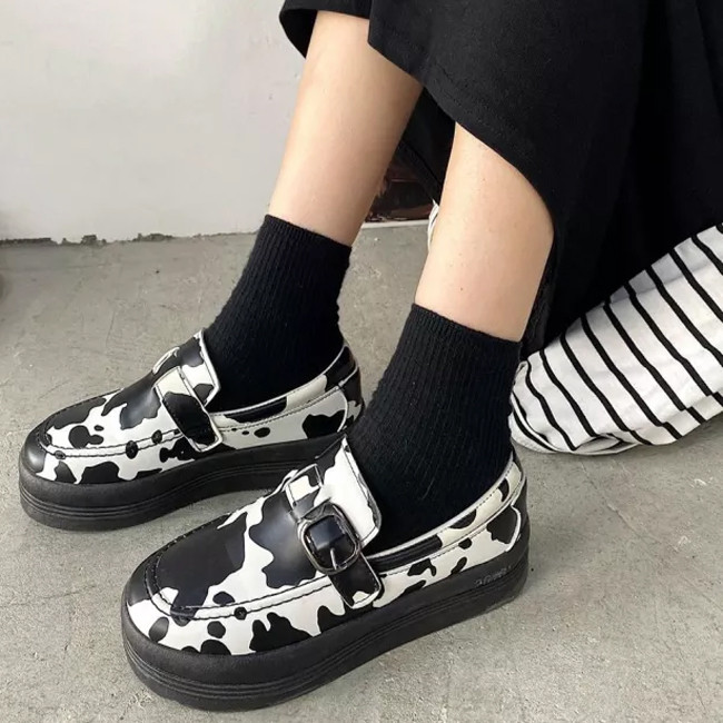 Lolita Shoes Woman Platform Mary Janes Shoes Cosplay Woman Shoes