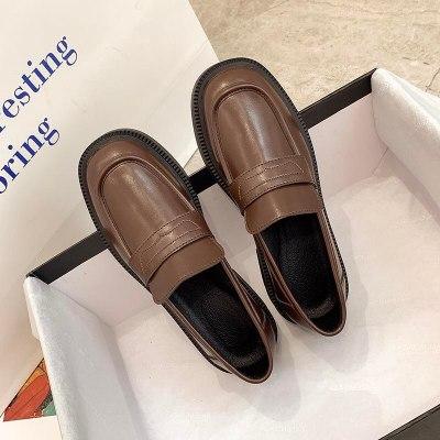 Lolita Shoes Leather Mary Janes Shoes Platform Woman Flats Ladies Shoes