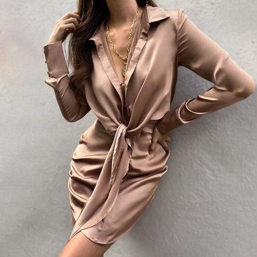 Sexy Women Dress Elegant Chic Party Dress Fashion Slim Long Sleeve Mini Dresses