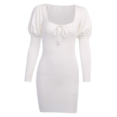 Summer Casual Slim Long-sleeve Party Dress