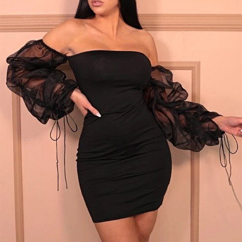 Girl Sexy Backless Dress Women Slim Lace Pleated Bodycon Dress Summer