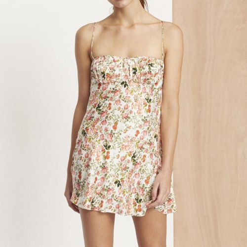 Summer Vintage Beach Pleated Sleeveless Short Dress Women