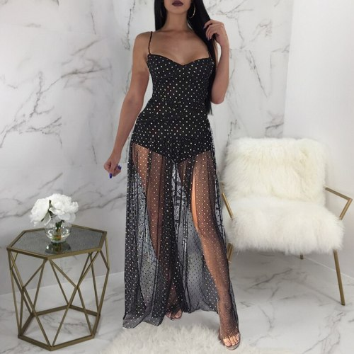 Summer Long Dress Tube Top Fake Two Pieces