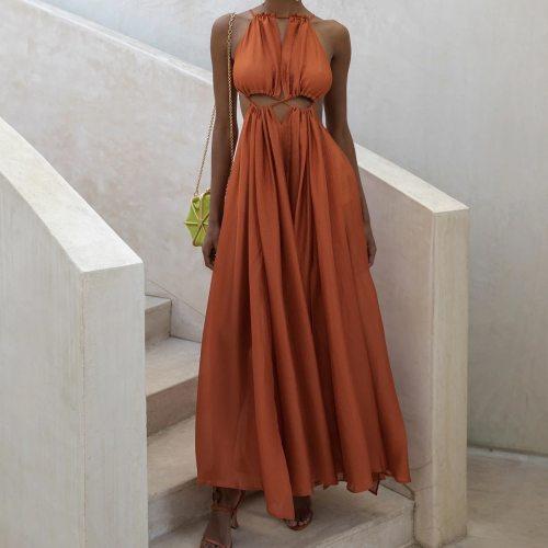 Boho Long Dress Women Sundress Sexy Backless Irregular Beach Dresses