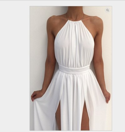 Women Off Shoulder Chiffon Dress Boho Maxi Dress Elegant Split Party Dresses