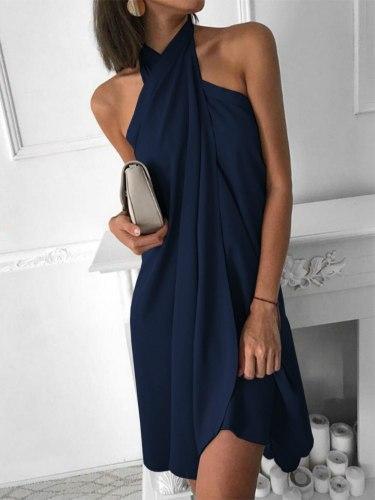 Sexy Women's Summer Dress Loose Casual Dress Party Vacation Sleeveless Dress