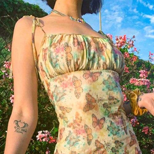 Summer Halter Sleeveless High Waist Mini Dresses Woman Party A-Line Sundress