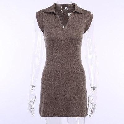 Women Fashion Sleeveless V-Neck Summer Casual Elegant A-Line Mini Dress