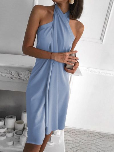 Sexy Women's Summer Dress Loose Casual Dress Party Vacation Sleeveless Dress
