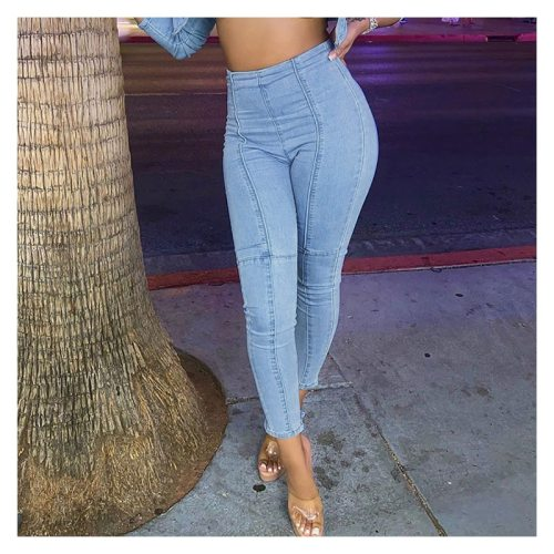 High Waisted Denim Women's Skinny Jeans Ladies Casual Casual Fashion Denim Trousers