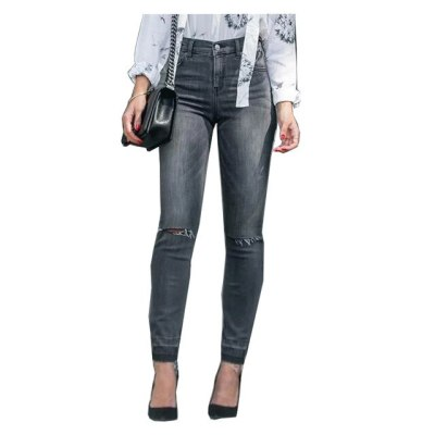 Women's Denim Pants streetwear women Ripped Jeans Skinny Vintage Casual Trousers