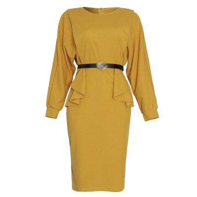 Women's Dress Trendy High Waist Female Elegant Winter Dresses