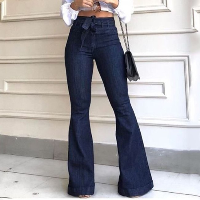 Women High Waist Denim Pants Streetwear Skinny Sexy Vintage Ladies Trousers Bottom Fashion