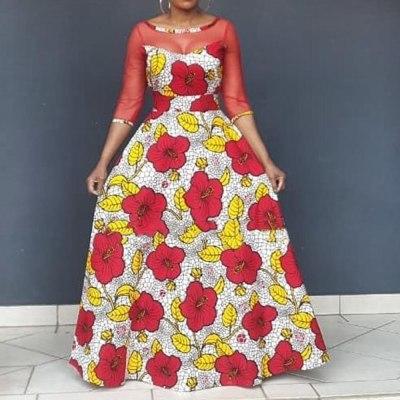 Sexy Dress High Waist Plus Size Vintage Women Party Casual Maxi Long Summer Dresses
