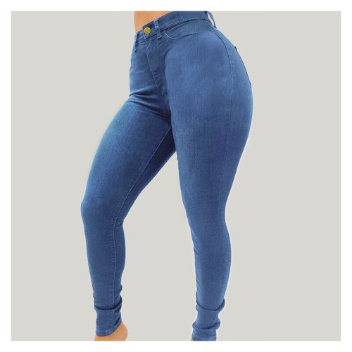 High Waist Jeans Skinny Denim Pants Jeans Streetwear For Women Fashion Jeans Trousers