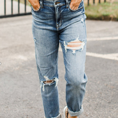 Women's Jeans Sexy Denim Pants Fashion Casual Female Jean Trousers